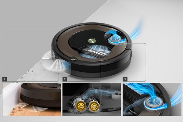 Принцип работы робота-пылесоса iRobot Roomba 896