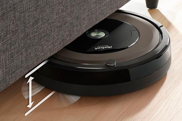 Высота робота-пылесоса iRobot Roomba 896