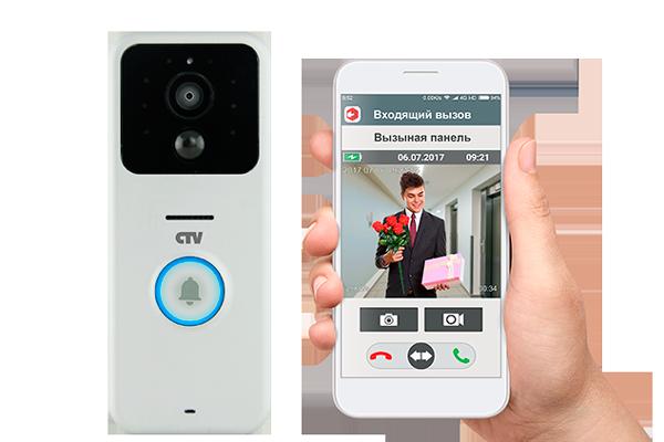Управление беспроводным видеодомофоном с помощью смартфона