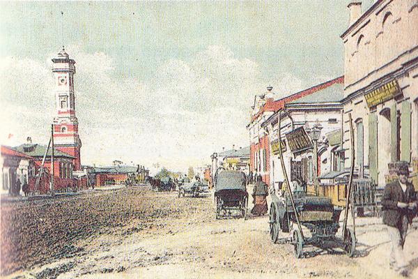 Старая пожарная каланча в Иркутске
