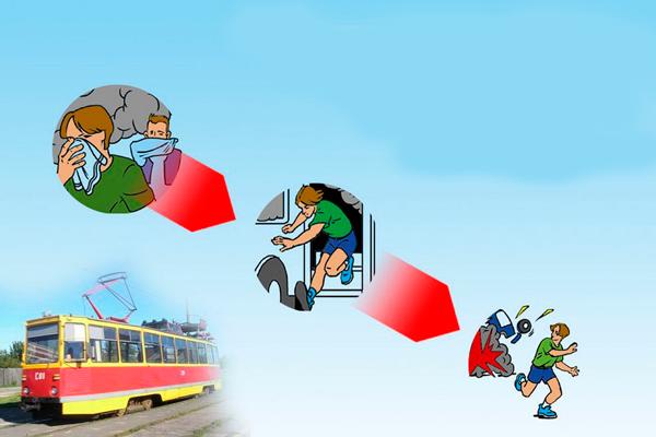 Действия для спасения при пожаре в общественном транспорте