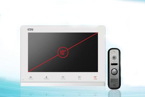 Размер диагонали сенсорной панели видеодомофона 10 дюймов