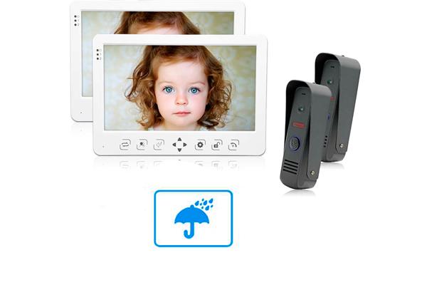 Устойчивость к дождю сенсорной панели видеодомофона