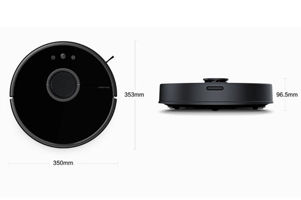 Габаритные размеры роботизированного пылесоса Xiaomi Mi Roborock Sweep One S55