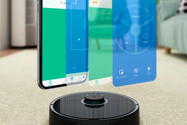 Управление роботом-пылесосом Xiaomi Mi Roborock Sweep One S55 с помощью смартфона