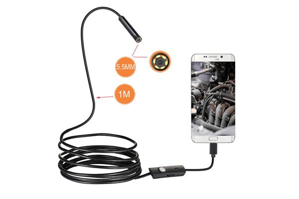 Размер объектива и длина шнура гибкой камеры для телефона