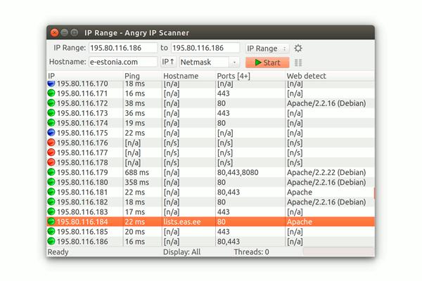Программа Angry IP Scanner