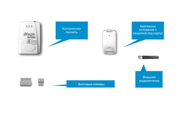 Комплектующие элементы сигнализации ZONT Mega SX-300