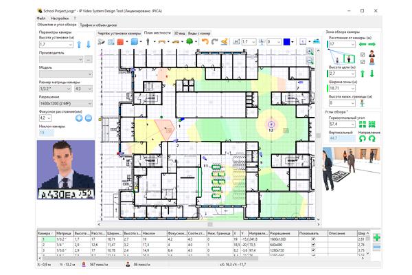 Программа для проектирования систем видеонаблюдения «JVSG»