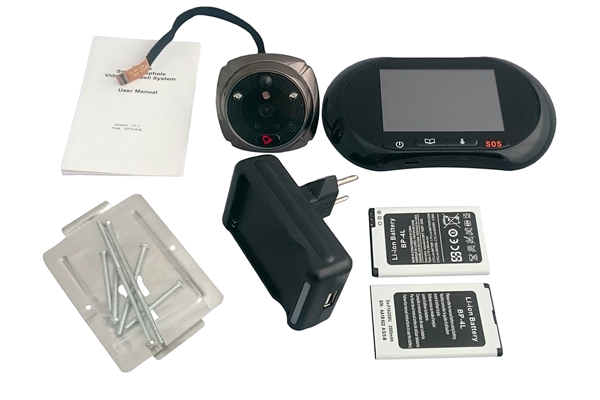 Комплектация проводного видеоглазка ZDK Zodiak 816