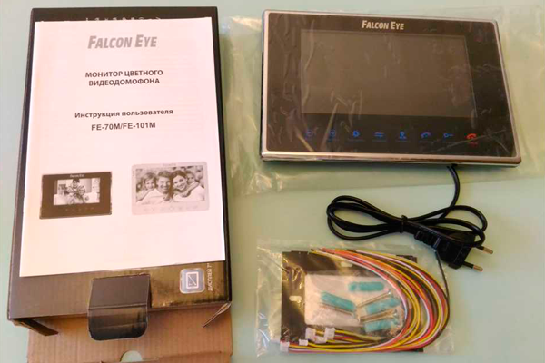 Комплектация видеодомофона с датчиком движения Falcon Eye FE-70M