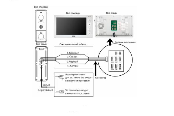 Схема подключения видеодомофона CTV-M4700AHD