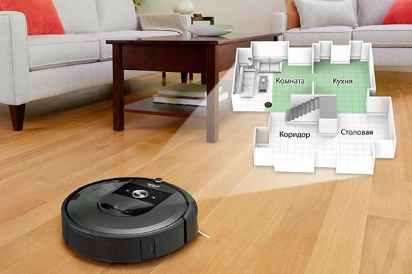 Система навигации роботизированного пылесоса iRobot Roomba i7+