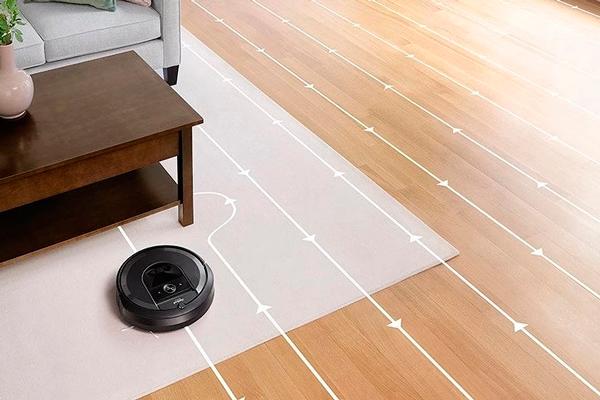 Траектория движения робота-пылесоса iRobot Roomba i7+