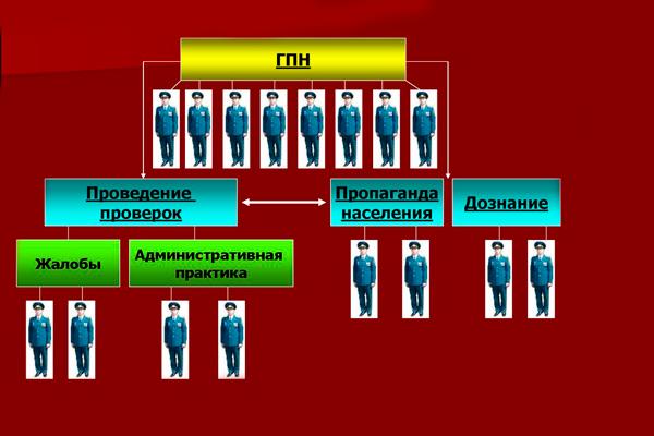 Функциональное распределение обязанностей среди государственных инспекторов по пожарному надзору
