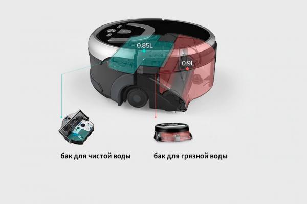Баки для грязной и чистой воды роботизированного пылесоса iLife W400