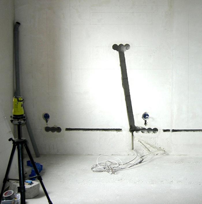 Готовая штроба под закладку проводов